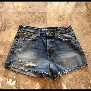 GRLFRND CINDY HIGH-RISE SHORTS IN STONED Size 26